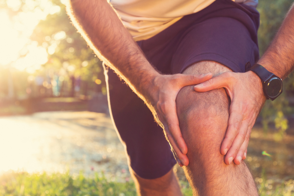 man suffering from painful osteoarthritis